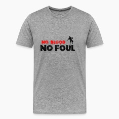 Basketball Slogan No Blood No Foul Used Look Retro