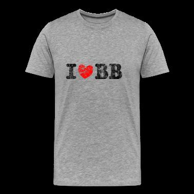I Love Basketball Used Look Retro T-Shirts