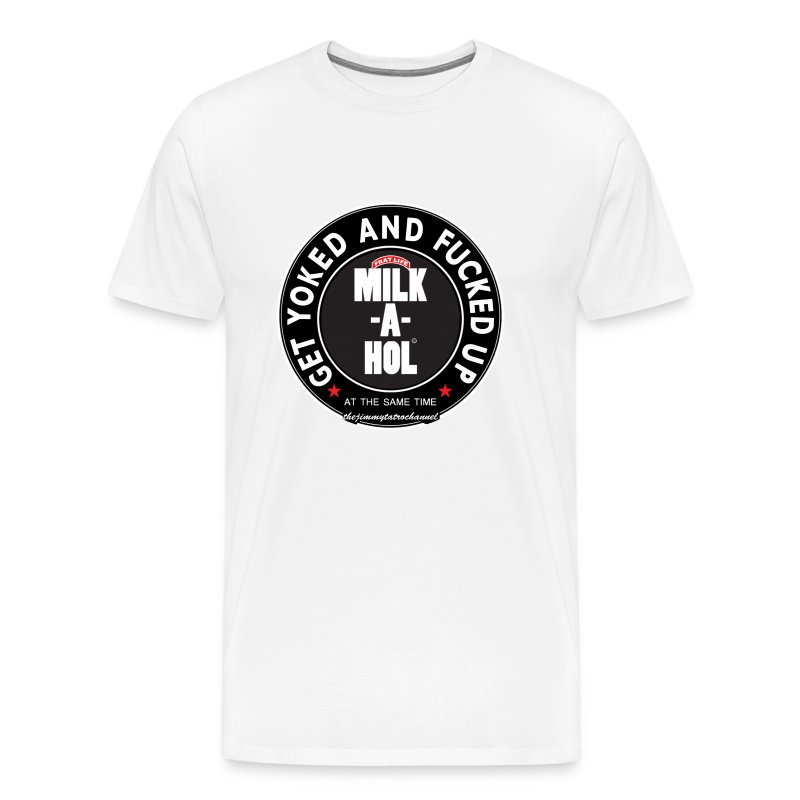 Milk-a-hol White - Men's Premium T-Shirt