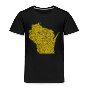Wisconsin Distressed - Toddler Premium T-Shirt