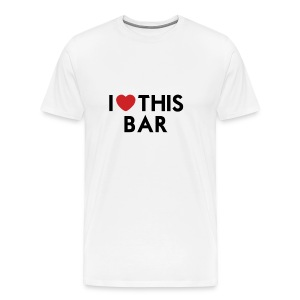I LUB THIS BAR (WHITE) - Men's Premium T-Shirt