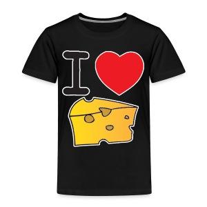 I Heart Cheese - Toddler Premium T-Shirt