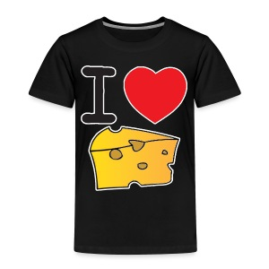 I Heart Cheese - Toddler Premium T-Shirt