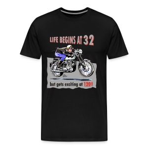 Life begins at 32, Classic BSA - Men's Premium T-Shirt