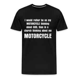 Thinking about my motorcycle - Men's Premium T-Shirt