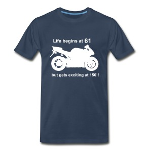 Life begins at 61 Superbike - Men's Premium T-Shirt