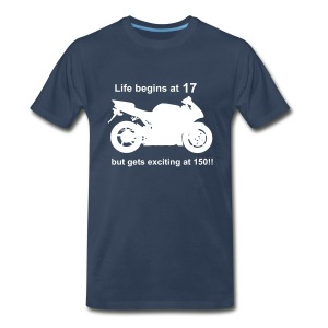 Life begins at 17 Superbike - Men's Premium T-Shirt
