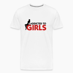 Addicted to Girls 1 (2c) T-shirts (manches courtes)