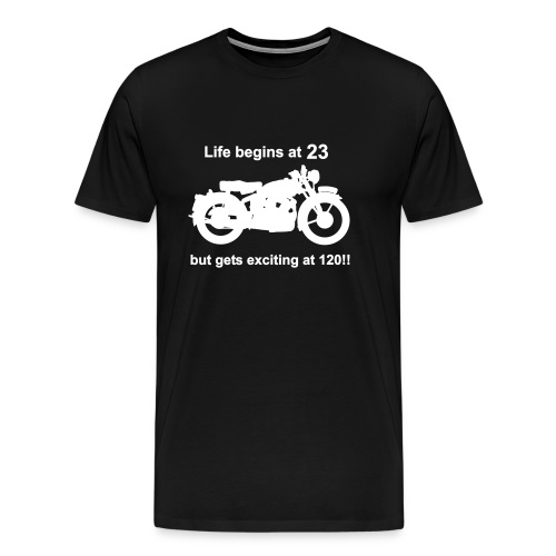 Life begins at 23, Classic Bike - Men's Premium T-Shirt