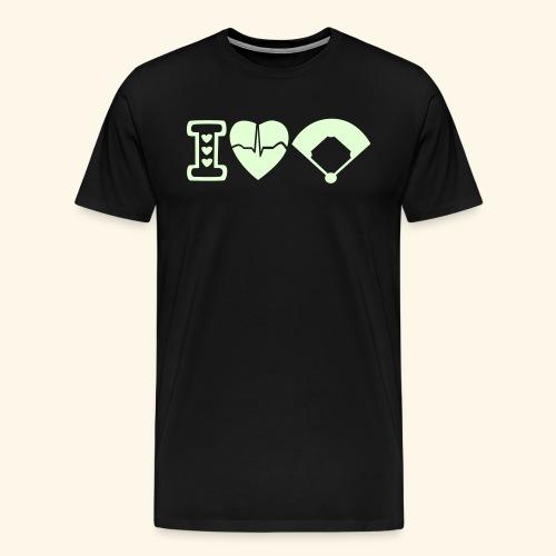 I love baseball T-Shirt - Men's Premium T-Shirt