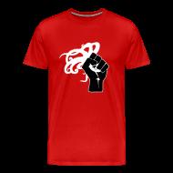 T-Shirts ~ Men's Premium T-Shirt ~ Octopus Revolution - Front Logo Only