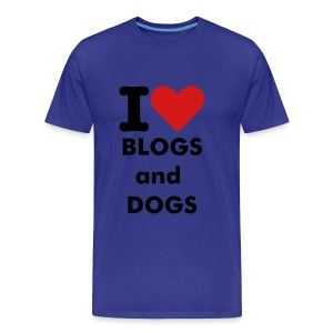 I love blogs & dogs - Men's Premium T-Shirt