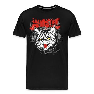 3XL - McNastee Angry Cat Tee - Men's Premium T-Shirt