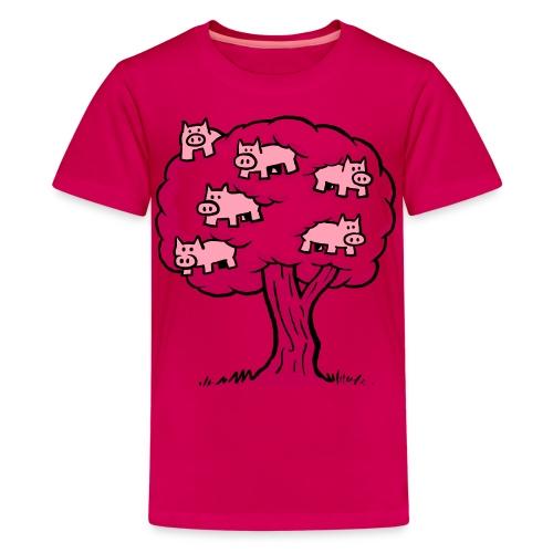 Pig Tree - Kids' Premium T-Shirt