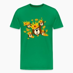 SMILING BEAR with crown | men's 3XL shirt
