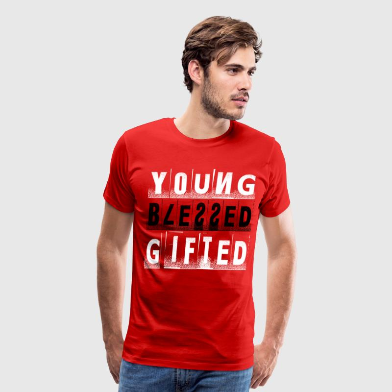 Young, Blessed, and Gifted Pt. 2 White/Black/Red - Men's Premium T-Shirt
