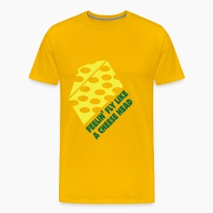 "Men's t-shirt ""Feelin Fly like a Cheesehead"" 