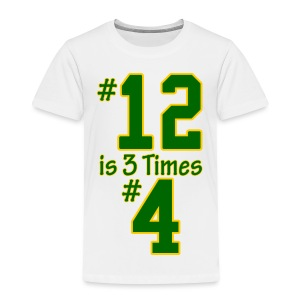 #12 is 3 times #4 - Toddler Premium T-Shirt