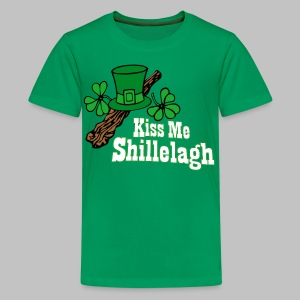 Kiss Me Shillelagh - Kids' Premium T-Shirt
