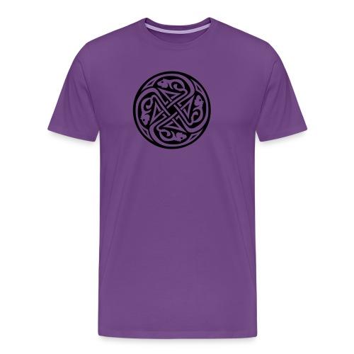 Celtic Rat Circle Men's Heavyweight T-Shirt - Men's Premium T-Shirt