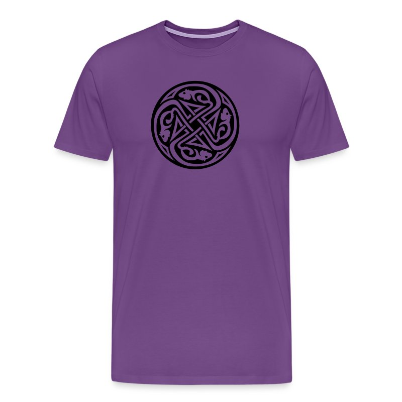 Celtic Rat Circle Men's Heavyweight T-Shirt - Men's Premium T-Shirt