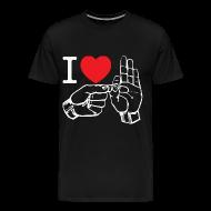 T-Shirts ~ Men's Premium T-Shirt ~ i love fucking T-Shirt (black)