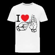 T-Shirts ~ Men's Premium T-Shirt ~ i love fucking T-Shirt (white)