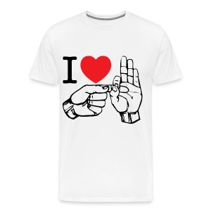 i love fucking T-Shirt (white) - Men's Premium T-Shirt