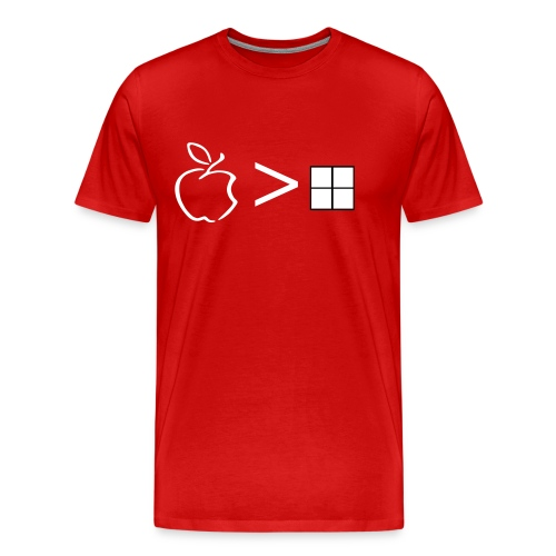 Apply over windows - Men's Premium T-Shirt