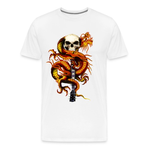 Red Dragon Skull - Men's Premium T-Shirt