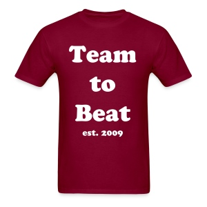 Team to Beat t-shirt maroon - Men's T-Shirt
