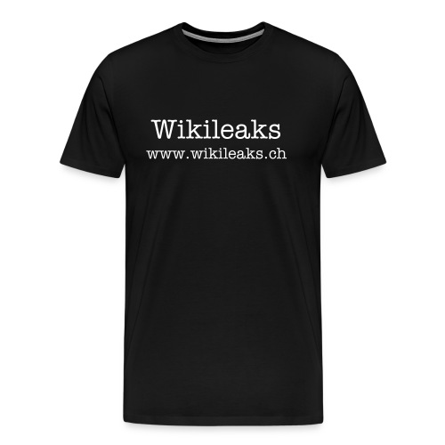 Wikileaks Simple Text t-shirt - Men's Premium T-Shirt