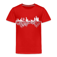 Baby & Toddler Shirts ~ Toddler Premium T-Shirt ~ Detroit Skyline With Roots Toddler T-Shirt