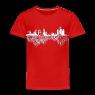 Baby & Toddler Shirts ~ Toddler Premium T-Shirt ~ Detroit Skyline With Roots Toddler T-Shirt