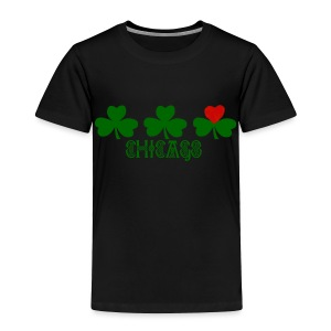 Chicago Shamrock Heart - Toddler Premium T-Shirt
