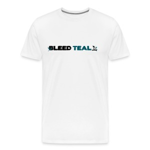 Bleed Teal Men's White T-Shirt - Men's Premium T-Shirt