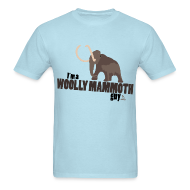 T-Shirts ~ Men's T-Shirt ~ Wooly Mammoth Guy Men's Sky Blue T-Shirt