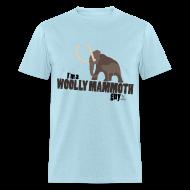 T-Shirts ~ Men's T-Shirt ~ Wooly Mammoth Guy Men's Sky Blue T-Shirt