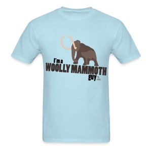 Wooly Mammoth Guy Men's Sky Blue T-Shirt - Men's T-Shirt
