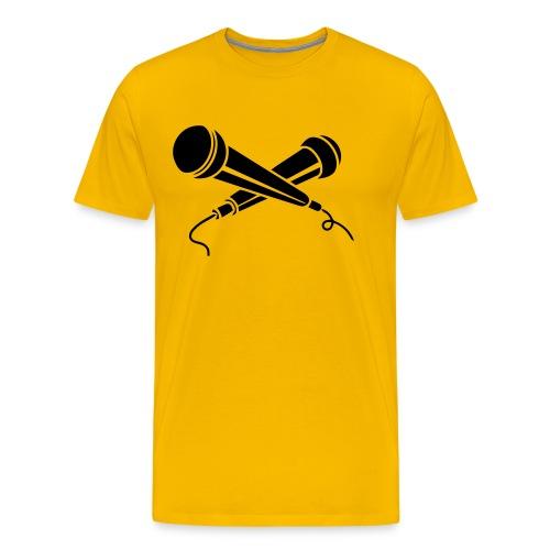 WORLD STAR BATTLE GRIND - MIC CHECK WSBL HEAVYWEIGHT T-SHIRT - Men's Premium T-Shirt