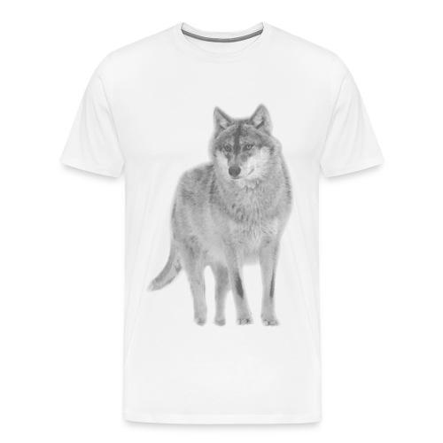 shirt wolf lupus wolves pack wild howling - Men's Premium T-Shirt