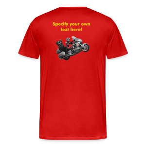 Men's Premium T Back WWheelie custom - Men's Premium T-Shirt