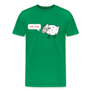 Sheep Oink! Oink! Funny T-Shirt - Men's Premium T-Shirt