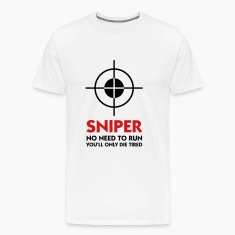 Sniper No Need To Run (2c) T-Shirts