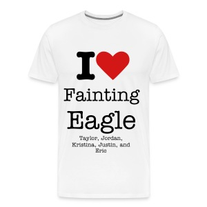 I (HEART) Fainting Eagle - Men's Premium T-Shirt