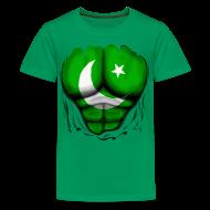 Kids' Shirts ~ Kids' Premium T-Shirt ~ Pakistan Flag Ripped Muscles, six pack, chest t-shirt