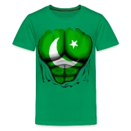 Kids' Shirts ~ Kids' Premium T-Shirt ~ Pakistan Flag Ripped Muscles, six pack, chest t-shirt