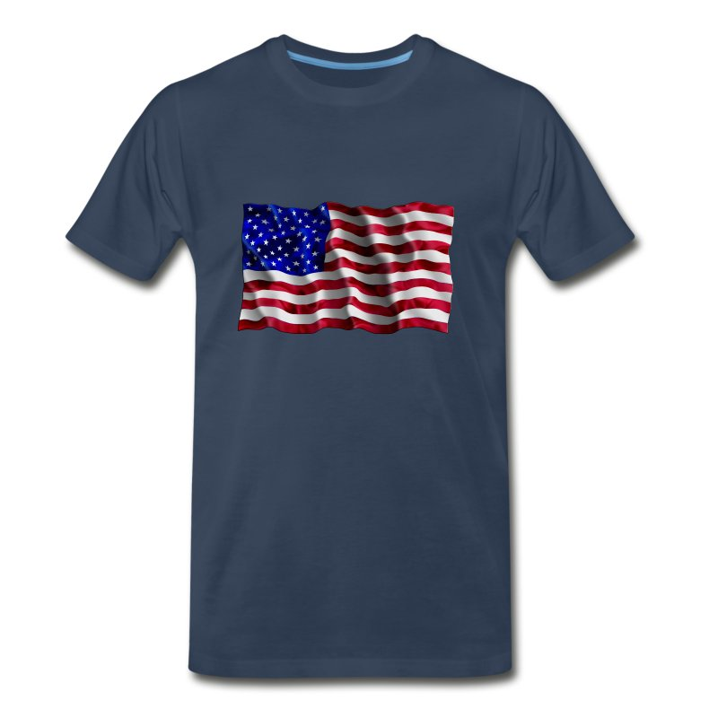 American Flag waving - Men's Premium T-Shirt