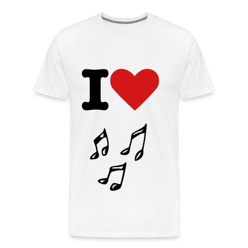 I ♥ Music - Men's Premium T-Shirt