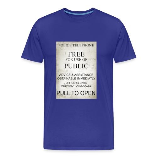 Tardis door sign - Men's Premium T-Shirt